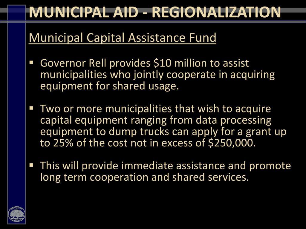 Municipal Capital Assistance Fund