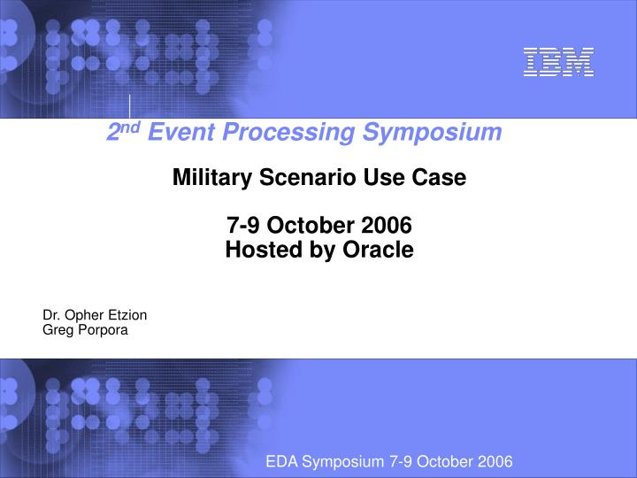 Military scenario use case 7 9 october 2006 hosted by oracle
