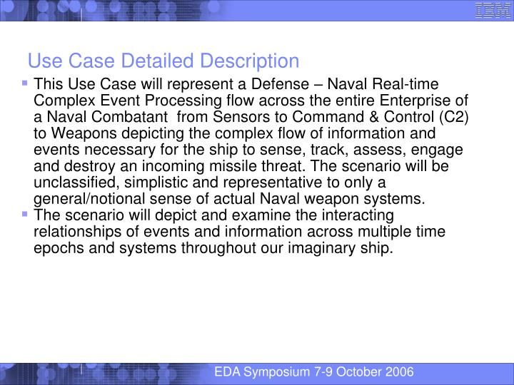 Use Case Detailed Description