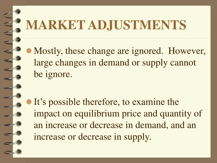 Market adjustments3