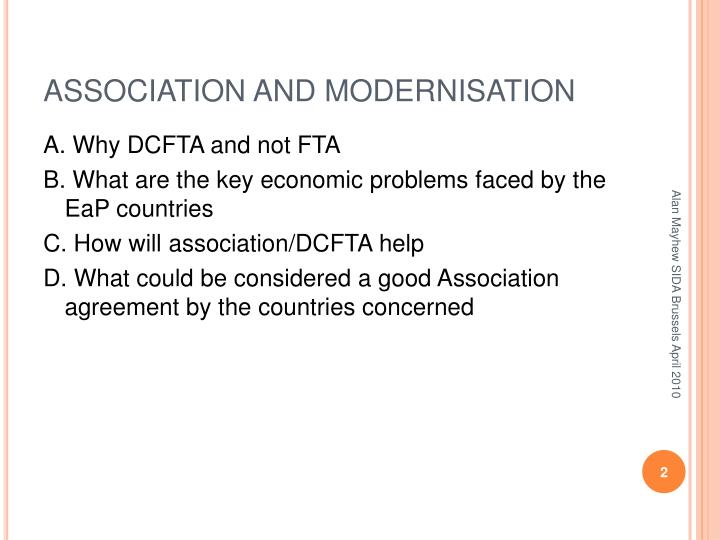ASSOCIATION AND MODERNISATION