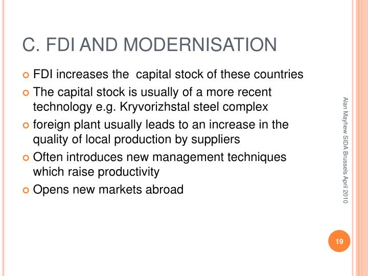 C. FDI AND MODERNISATION