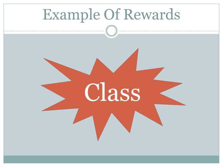 Example Of Rewards
