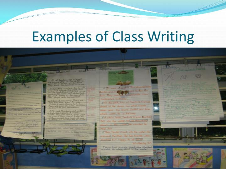 Examples of Class Writing