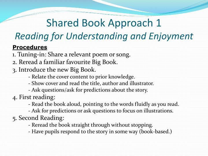 Shared Book Approach 1