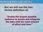 defining interoperability1