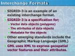 interchange formats