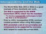 interoperability and the web