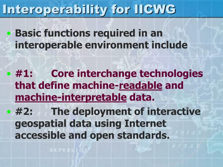 Interoperability for IICWG