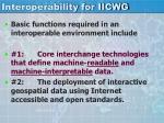interoperability for iicwg