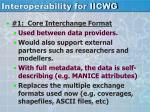 interoperability for iicwg1