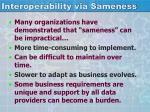 interoperability via sameness1