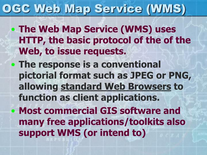 OGC Web Map Service (WMS)