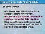 reasons for interoperability1