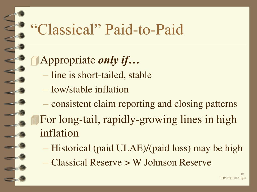 """Classical"" Paid-to-Paid"