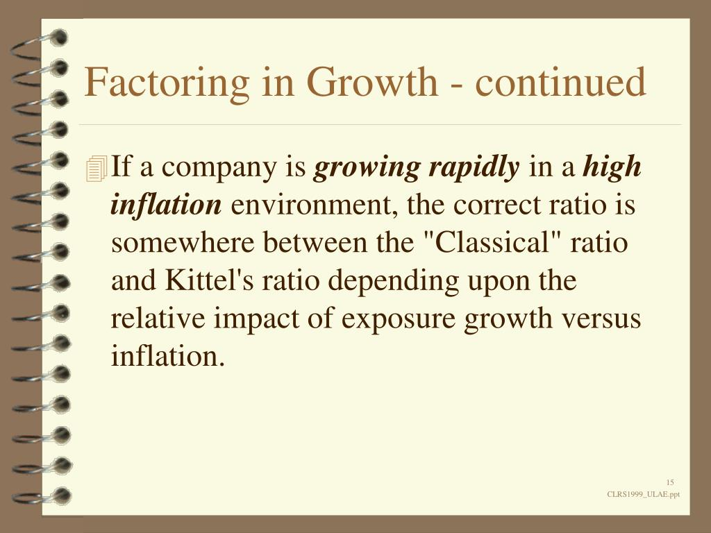 Factoring in Growth - continued