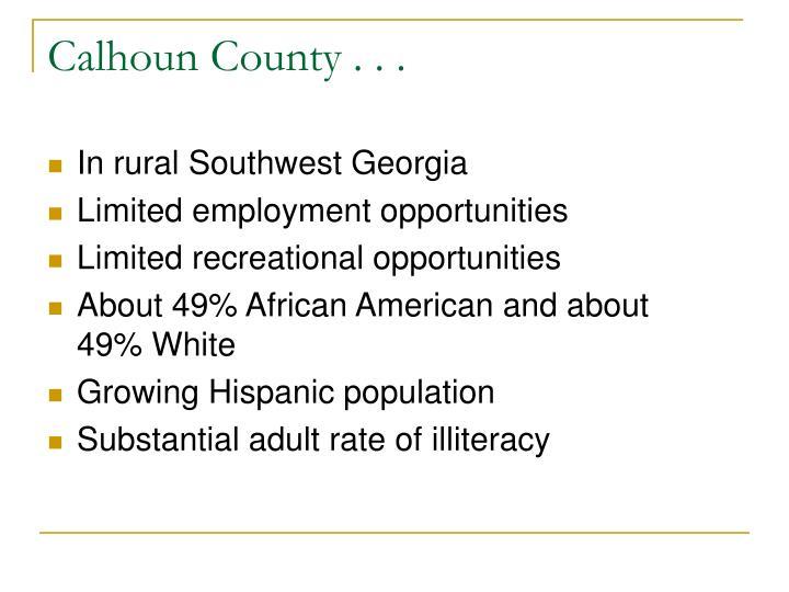Calhoun County . . .