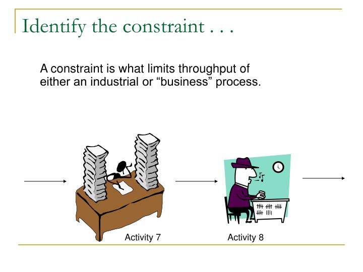 Identify the constraint . . .