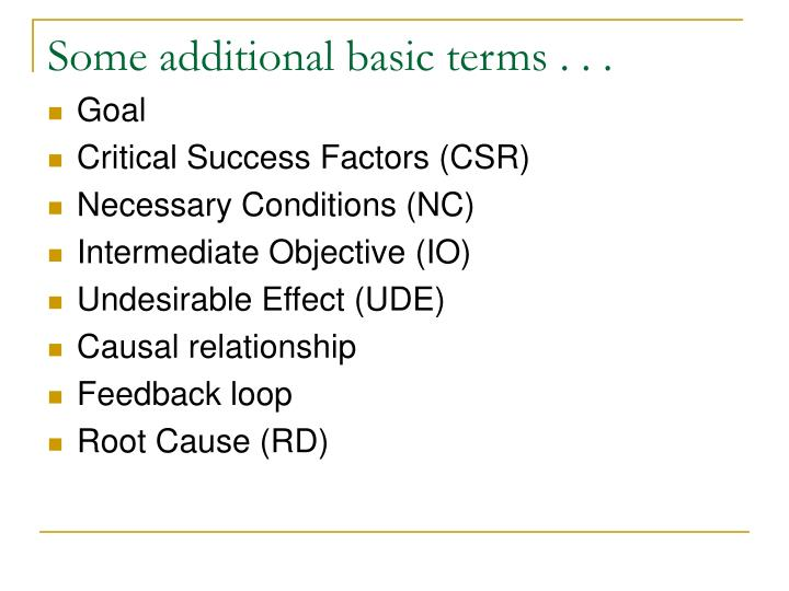 Some additional basic terms . . .