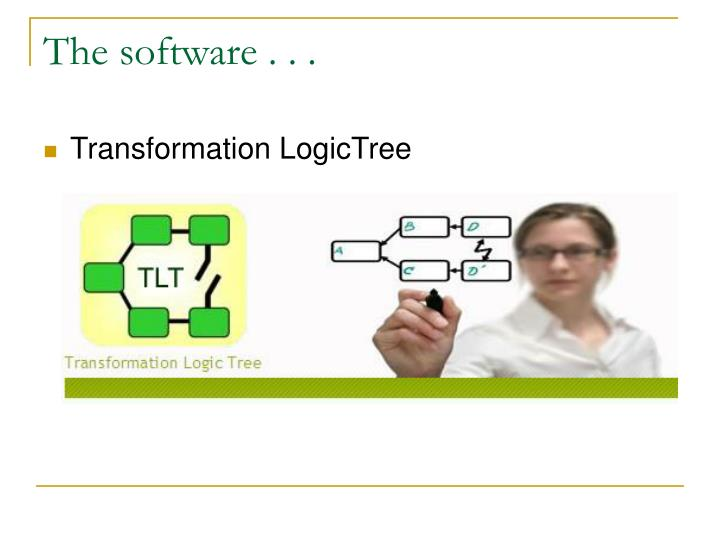 The software . . .