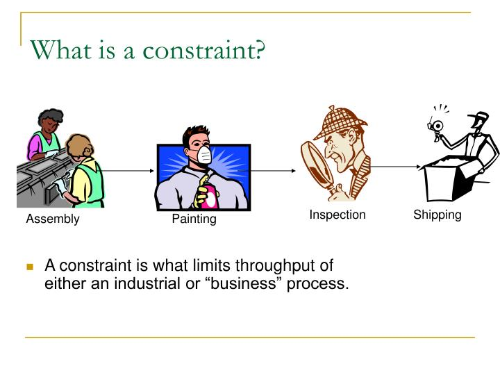 What is a constraint?