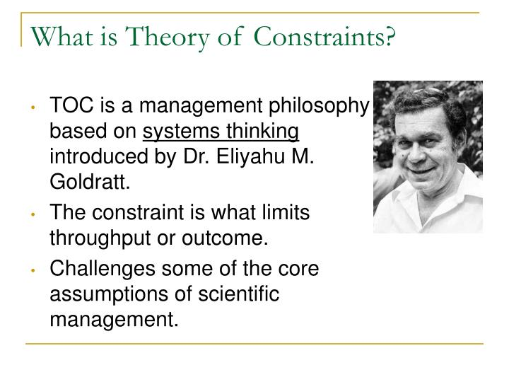 What is theory of constraints