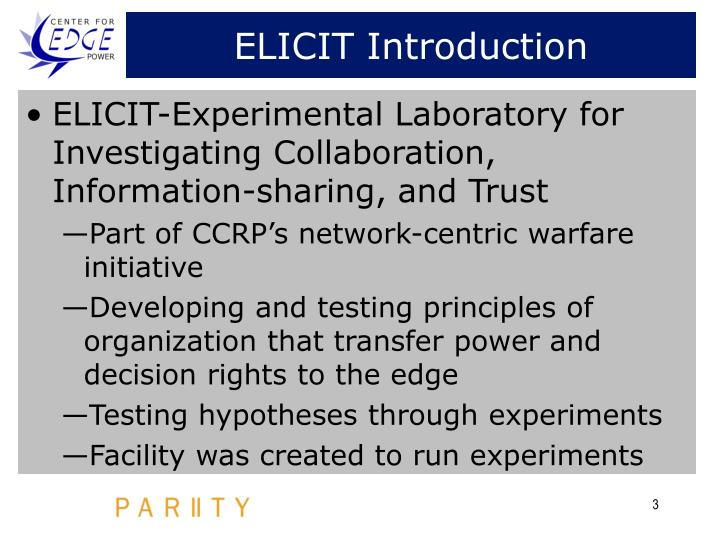 ELICIT Introduction