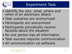 experiment task