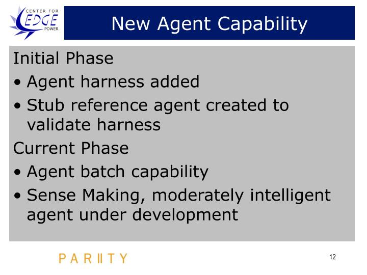 New Agent Capability