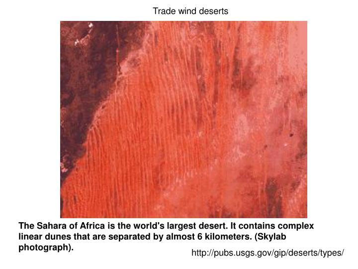 Trade wind deserts