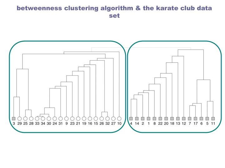 betweenness clustering algorithm & the karate club data set