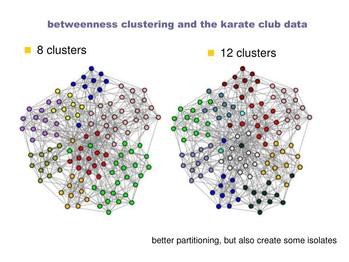 betweenness clustering and the karate club data