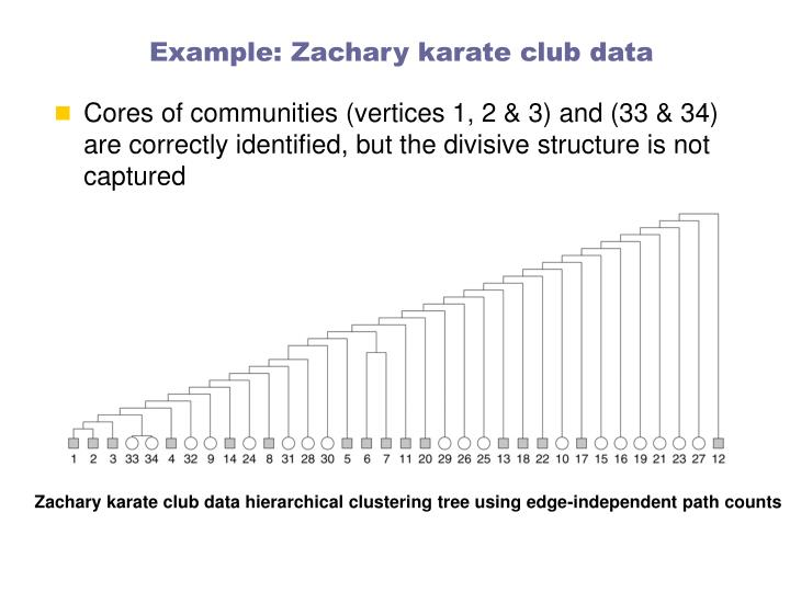 Example: Zachary karate club data