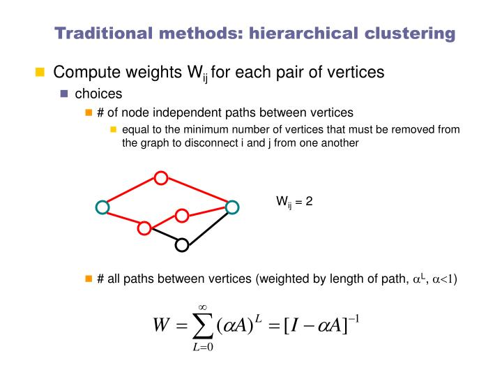 Traditional methods: hierarchical clustering