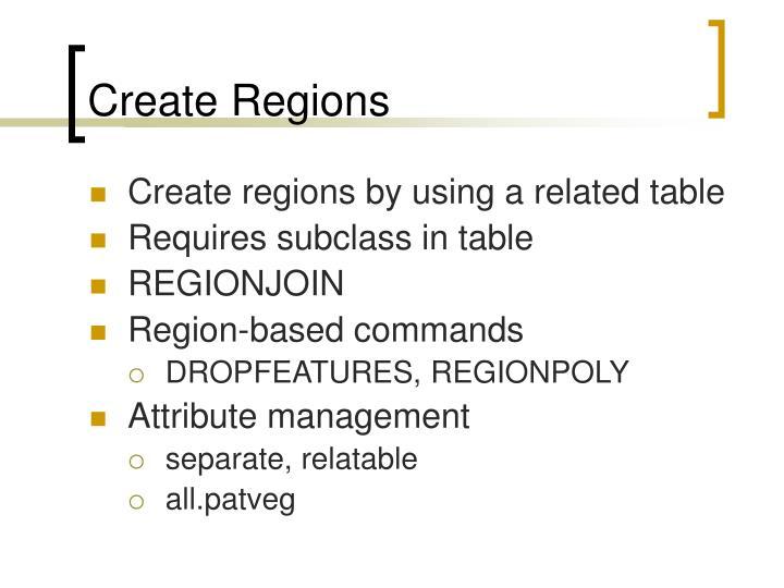 Create Regions