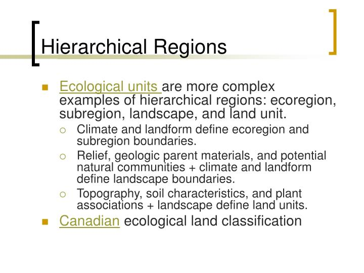 Hierarchical Regions