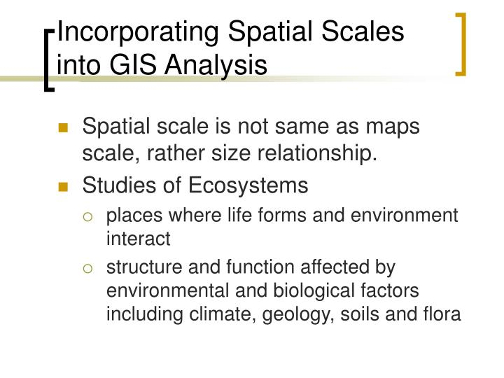 Incorporating Spatial Scales into GIS Analysis