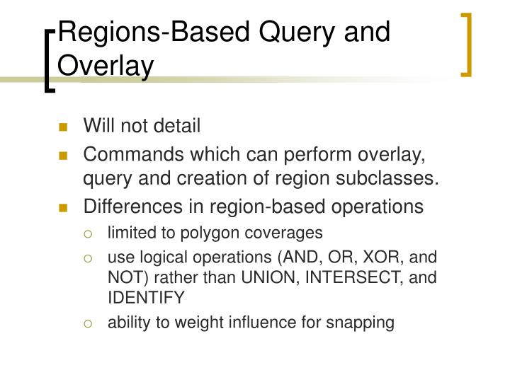 Regions-Based Query and Overlay