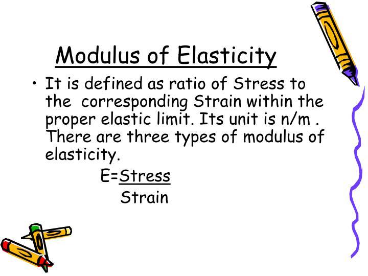 Modulus of Elasticity