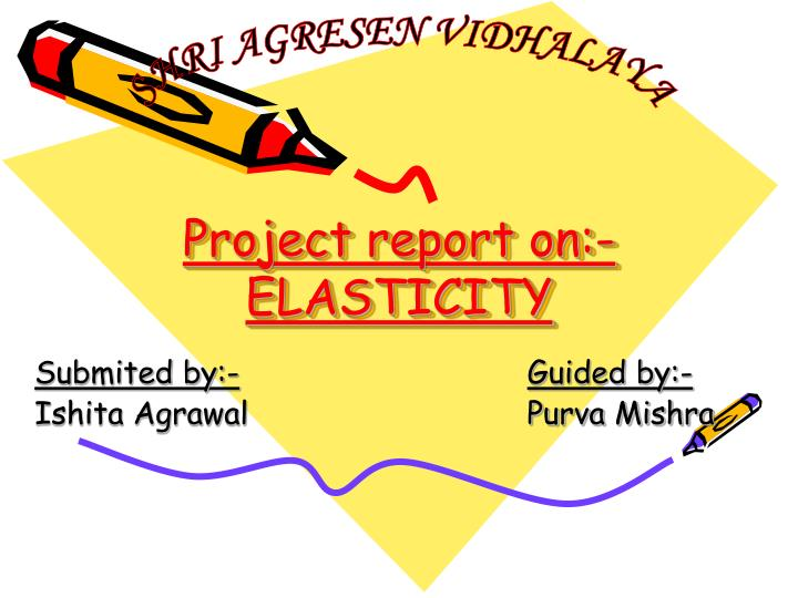 Project report on elasticity