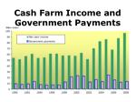 cash farm income and government payments