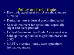 policy and freer trade