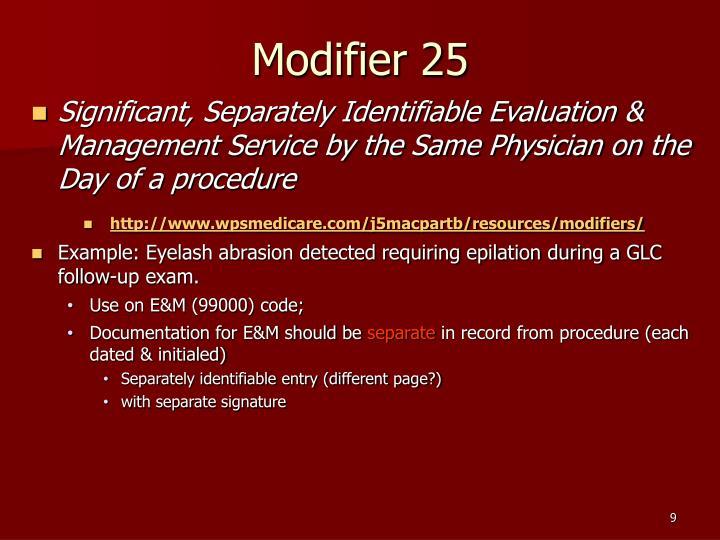 Modifier 25