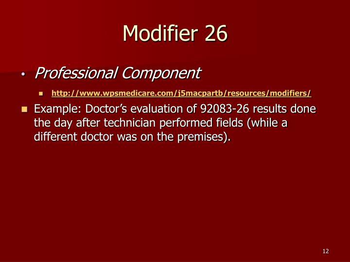 Modifier 26