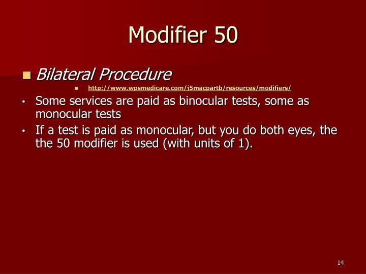 Modifier 50