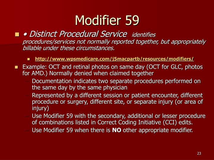 Modifier 59