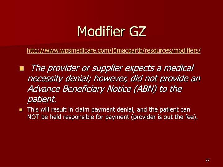 Modifier GZ