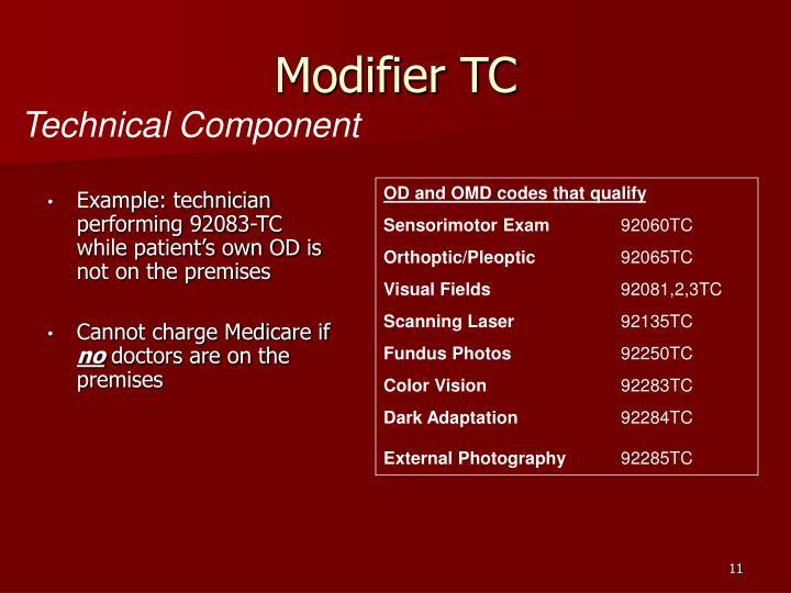 Modifier TC