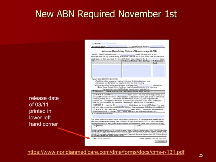 New ABN Required November 1st