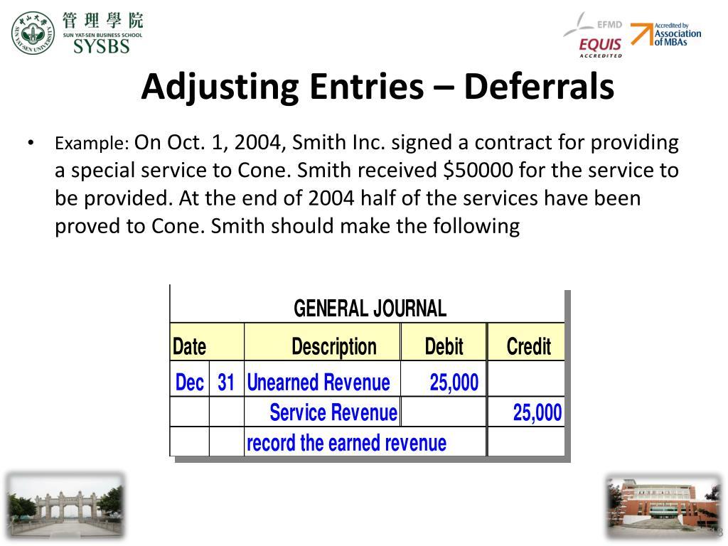 Adjusting Entries – Deferrals